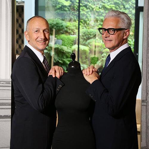Pierre Letz et Daniel Martin, couturiers créateurs